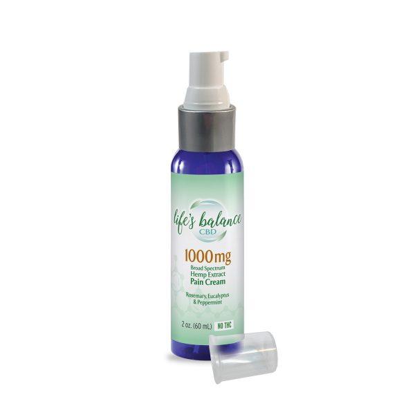 1000mg Extra Strength CBD Pain Cream 2.0 oz bottle